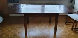 echtholz esstisch mit 4 stühlen antik
