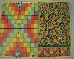 Very Vintage Game Board 6 Different Games Two Sided Transogram Company