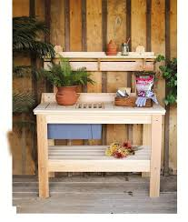 Amish Cypress Outdoor Potting Table