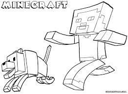 Minecraft Man And Dog