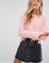 bershka si e social bershka bershka frayed cable knitted jumper