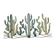 wanddeko kaktus aus metall 136x68 maisons du monde