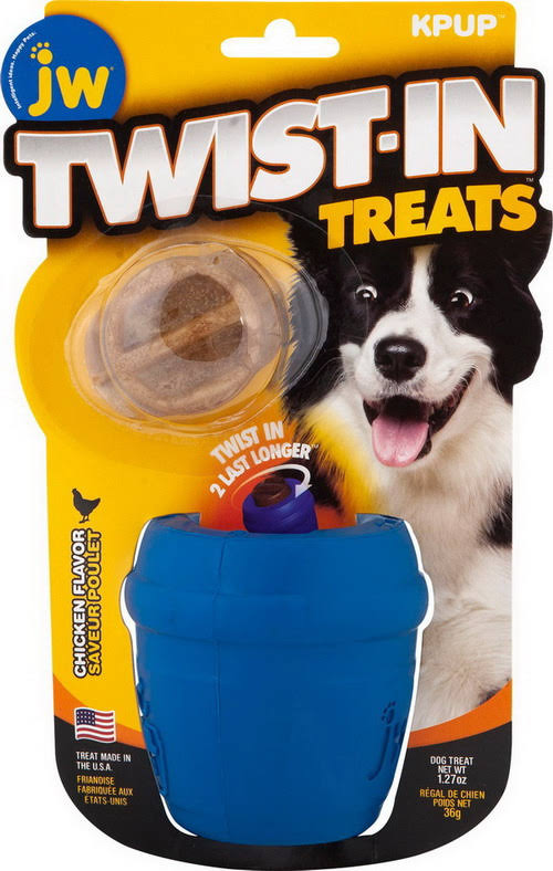JW Pet Twist in Treat Dispenser Chew Dog Toy - Small