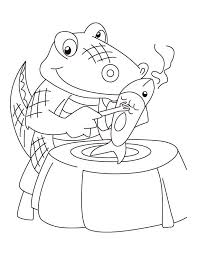 Alligator Meal Angel Real Coloring Pages