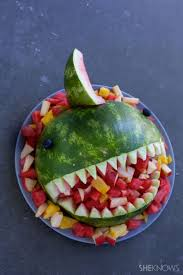 Easy Shark Pumpkin Carving by Fruit Filled Watermelon Shark Bowl It U0027s Easier Than You Think