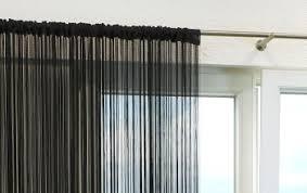 gardinen vorhänge schwarze kreative fensterdekoration