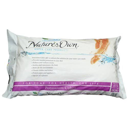 Nature's Own Potassium Chloride Crystal Cubes - 40 lb bag