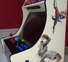 Bartop Arcade Cabinet Plans Pdf by Homemade Streetfighter Themed Bartop With Light Gun