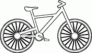 Cartoon Bicycle 1 Coloring Page