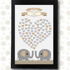 Wedding Guest Book Unique Guestbooks Elephant Signature Printable Pdf Groom Gift Alternative Ideas Friends