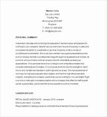 Fashion Retail Resume Sample Lovely Cool Examples About Cv Tar Ed At