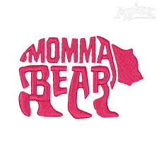 Momma Bear Embroidery Designs