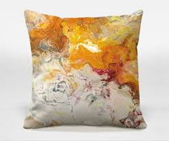 Abstract Art Orange Pillows – Abstract Art Home