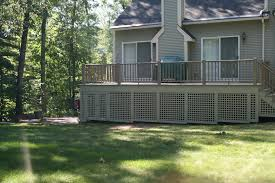 what to use to enclose the area under your deck