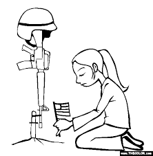Not Forgotten Memorial Day Coloring Page