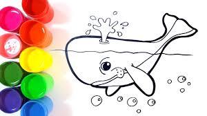 Vector Del Colorante De La Ballena Para Los Adultos Ilustración Del