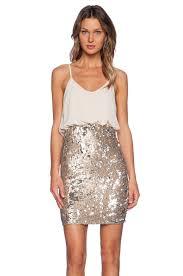 tfnc london annie sequins mini dress in gold revolve