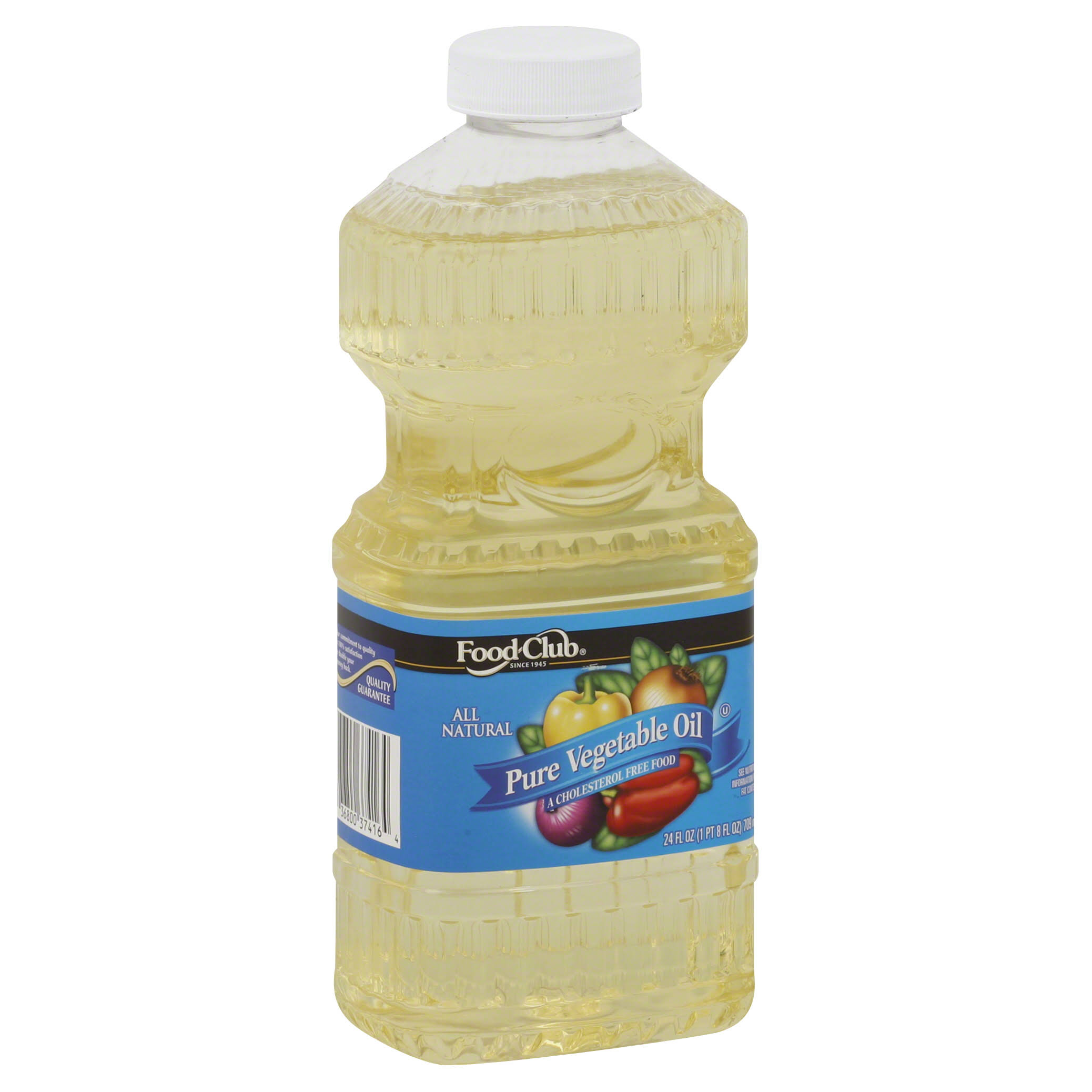 Food Club Pure Vegetable Oil - 24oz