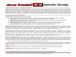 Interior Design Resumes Designer Resume Format Unique