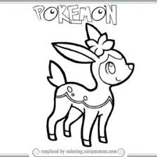 Pokemon Coloring Pages Deerling Printable