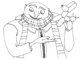 Despicable Me Coloring Pages Minion Archives Best Page Line Drawings