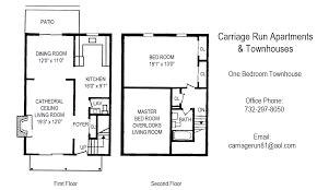1 Bedroom Townhouse Floorplan – $1 430 $1 530