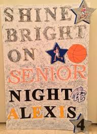 Senior Night Poster Bear Creek High School Bruins Lady Girls Basketball