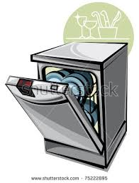 Dishwasher Cartoon Clip Art Cliparts Unload Clipart