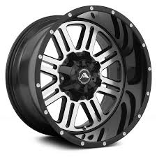 100 Off Road Truck Wheels AMERICAN OFFROAD A106 Black With Machined Face Rims