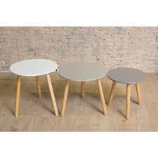 scandinavian set of three tables