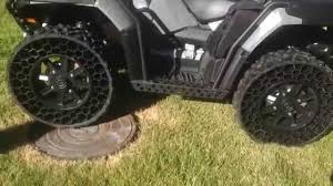 Airless Military Tires On Polaris - YouTube Polaris Airless Tires To Go On Sale Next Month Video Used Japanese Truck Tyresradial Typeairless Tires For Dump The Rider Flat Suck And I Cant Wait For Those Tweeljpg 12800 Airless Tyres Pinterest Tired Cars Earth Youtube Bmw Rumored Adopt Michelins Spares Aoevolution Offroad Vehicle With Is Incredibly Tough Cool Military Invention Video Free Images Wheel Air Parking Profile Bumper Wheels Rim Delasso Solid Forklift Trucks Heavyduty Tire These Futuristic Car Never Go Wired Sumitomo Shows Off Toyota Finecomfort Ride