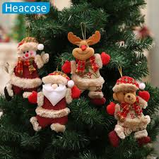 Christmas Tree Decoration Dancing Santa Claus Snowman Deer Hanging Ornaments Toy Decorations For Home New