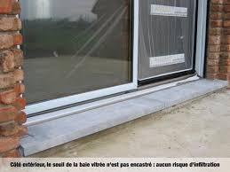 baie vitrée avec seuil intégré baie vitrée avec seuil plat