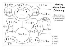 Shining Math Coloring Pages Problems Kindergarten Printable Worksheets