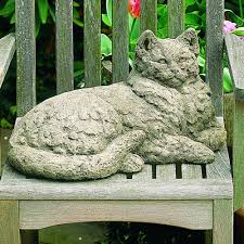cat garden statue queenie cat cast garden statue