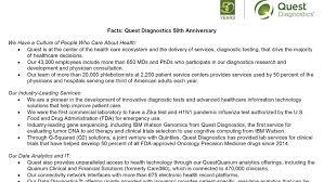 quest diagnostics fast facts 5 HR
