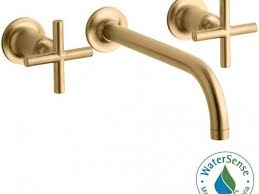 Kohler Purist Faucet Gold by Bathroom Faucets Kohler Purist Wall Mount Handle Water Saving