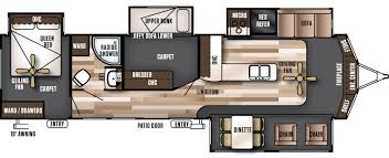 Wildwood Fifth Wheel Floor Plans Colors Wildwood Lodge Destination Trailers By Forest River Rv Camper