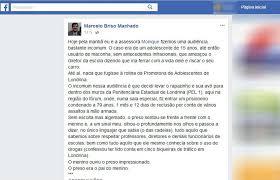 Relatou O Promotor De Justica Marcelo Briso Machado Da Promotoria Adolescentes Londrina