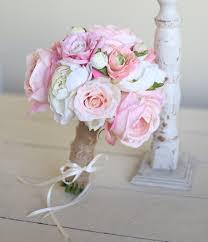 Silk Bridal Bouquet Roses Peonies Burlap Rustic Chic Decor NEW 2014 Design By Morgann Hill Designs
