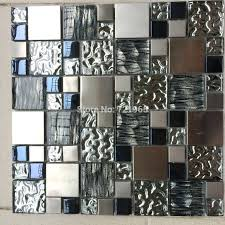 self adhesive metal wall tiles backsplash tile metallic effect