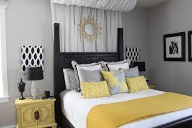 Yellow And Grey Bedroom Decor Photo