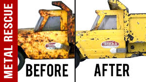 How To De-Rust Antiques: Metal Toy Tonka Truck: Time Lapse - YouTube