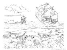 Beach View Coloring Pages