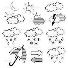 Coloring Pages Weather Printable Symbols Within