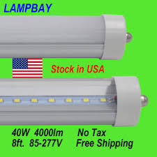25 pack 8ft led bulb 40w replace f96 fluorescent bar no tax