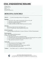 Civil Engineering Resume Example Sample For Engineer Fresher Cover Letter Samples
