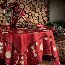 nappe de noël nappes noël en tissu haut de gamme beauvillé
