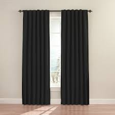 eclipse fresno 52 by 84 inch blackout window curtain black