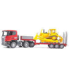 Jual Bruder Toys 3555 - Scania R-Series Low Loader Truck With CAT ...